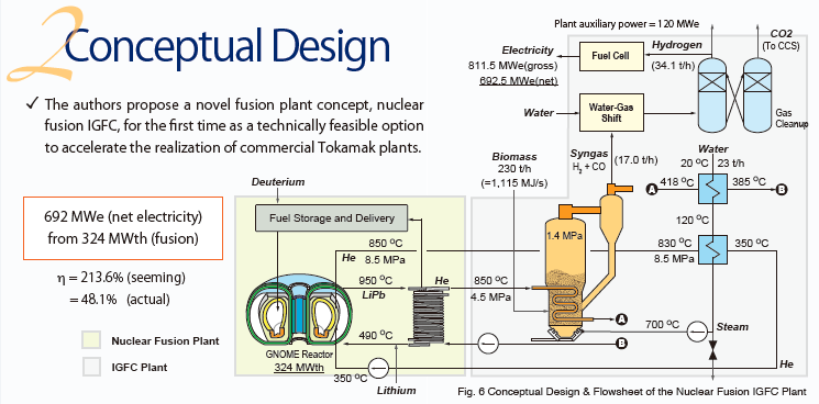 (Presentation) Nuclear Fusion Integrated Biomass Gasification Fuel Cell Cycle: A Promising Option for Future Energy Sustainability?